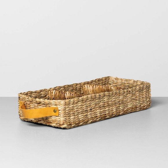 HEARTH AND HAND Magnolia Seagrass Tray Basket NWT